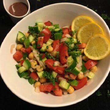 Cucumber-Tomato-Onion-Garbanzo-Bean-Salad-with-Kalamata-Olive-Dressing