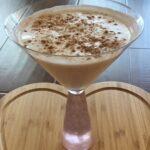 amaretto irish cream vodka cocktail in martini glass