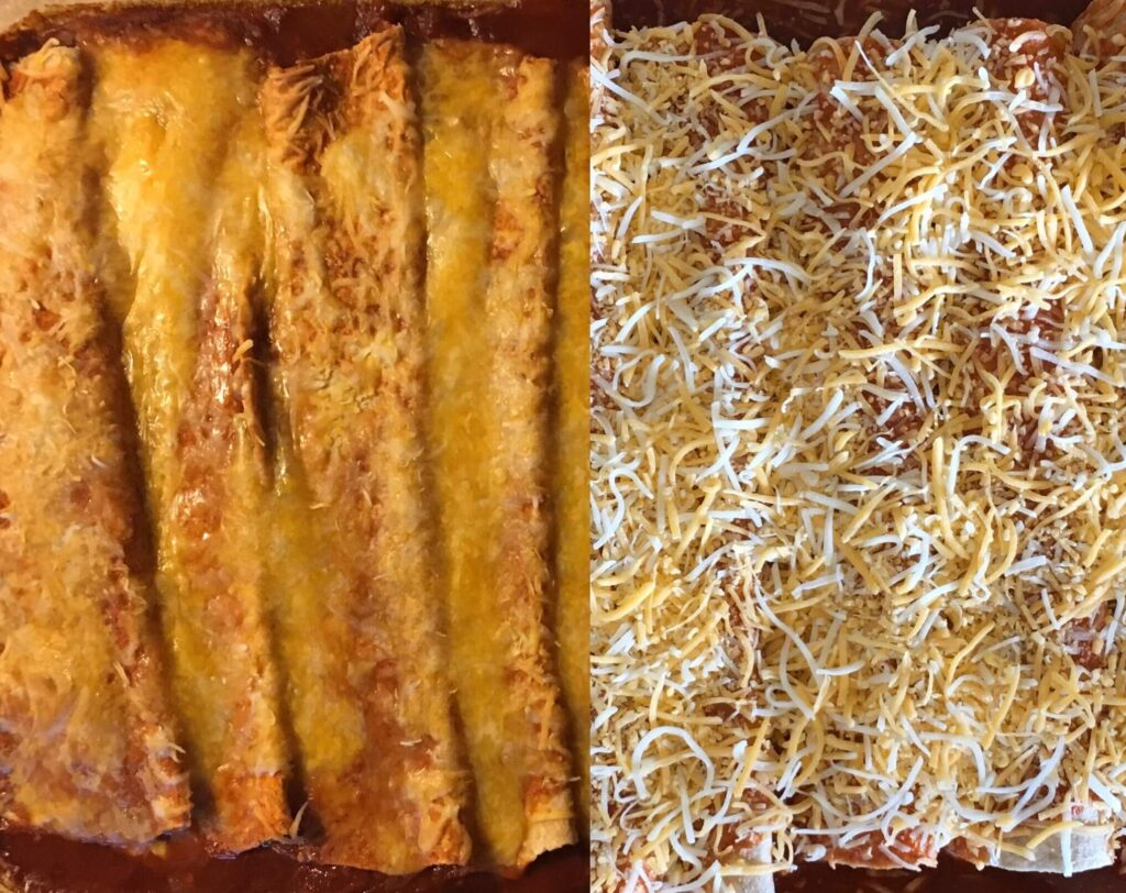 Super Easy Cheese Enchiladas