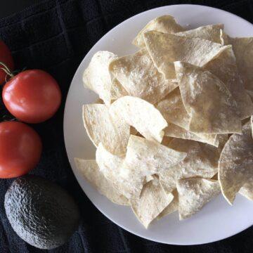 no fry low fat tortilla chips