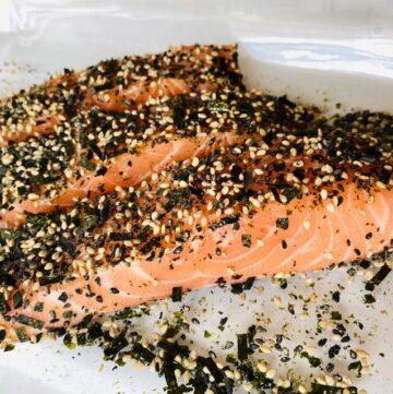 Furikake-Salmon-3-pieces-on-baking-dish