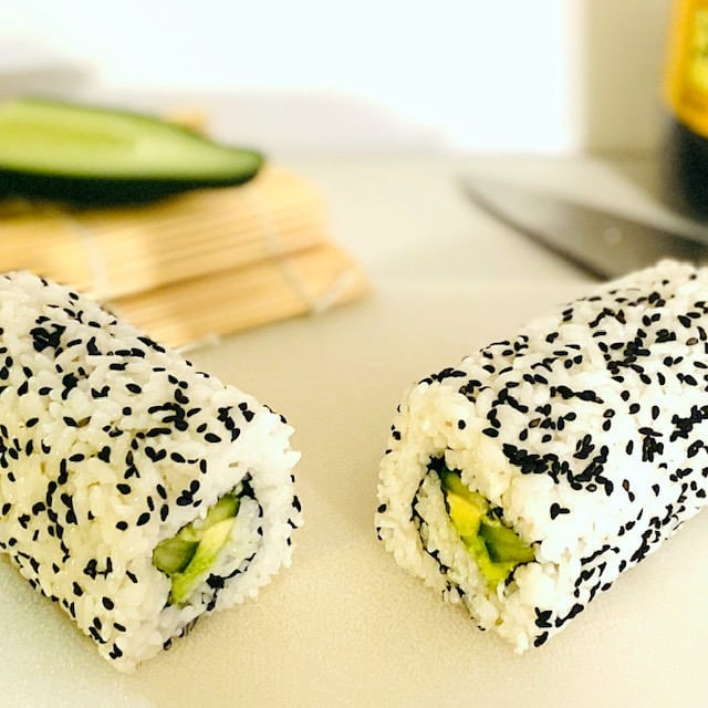 Instant-Pot-Sushi-Rice-california-roll