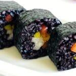 black-rice-sushi-peppers-red-yellow-jicama