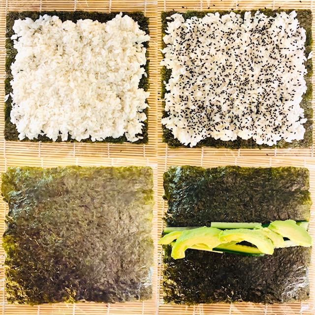 Vegetable-sushi-process-shots-steps-1-4
