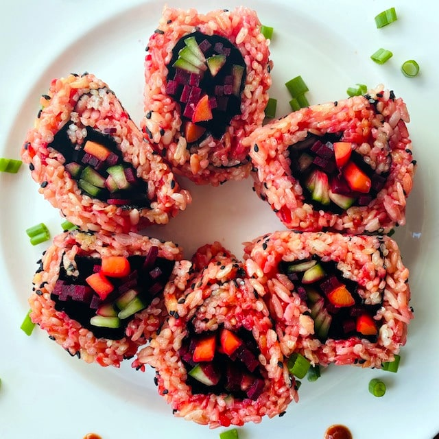 vegetable-sushi-red-fire-roll-with-pickled-vegetables