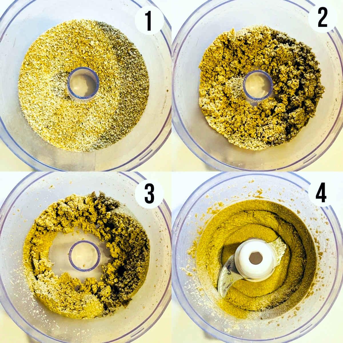 pumpkin seed butter process shots 1 through 4