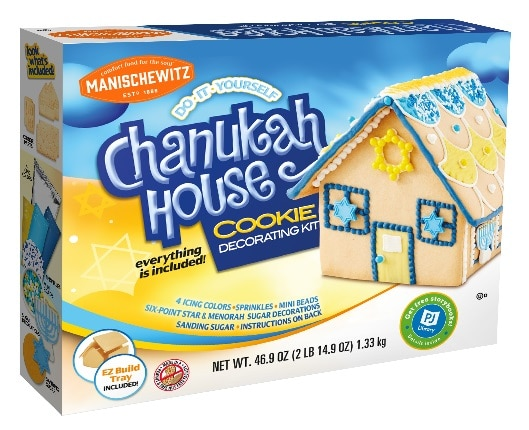 picture of chanukah cookie house box
