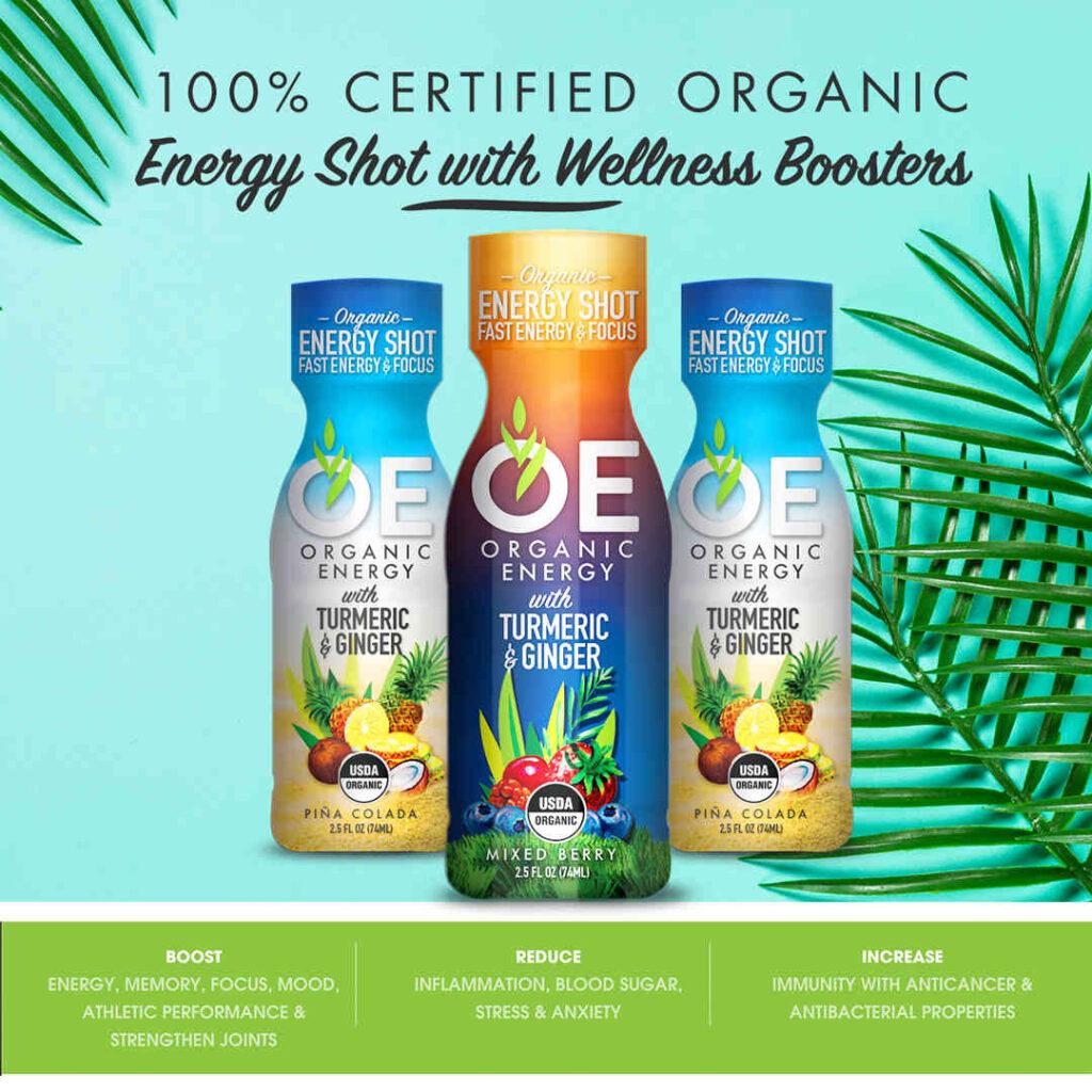 3 bottles of OE energy shots