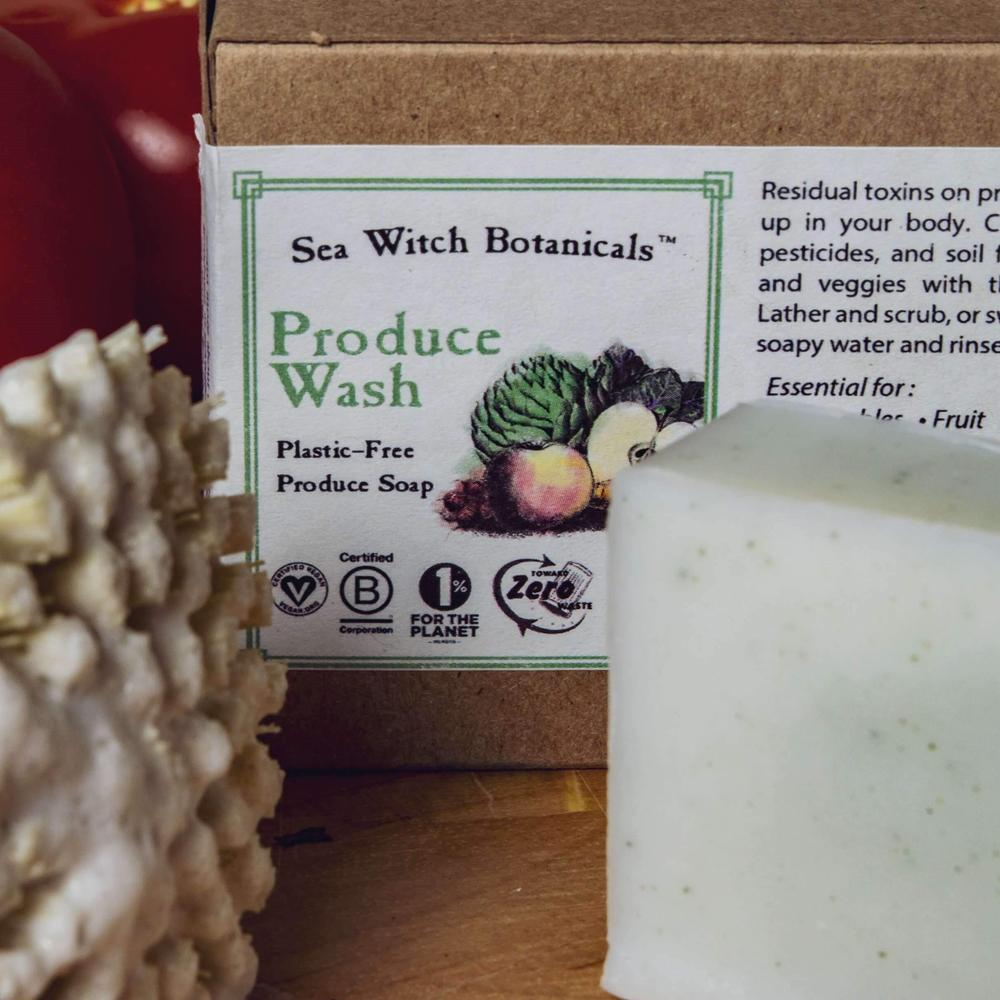 sea witch botanicals produce wash soap box and soap