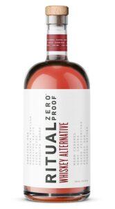 bottle of ritual zero proof whiskey alternative