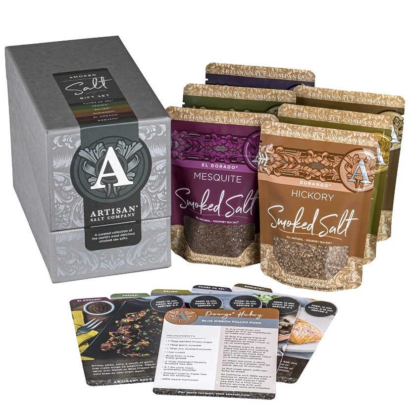 salt works gift set with 6 bags of salt and gift box