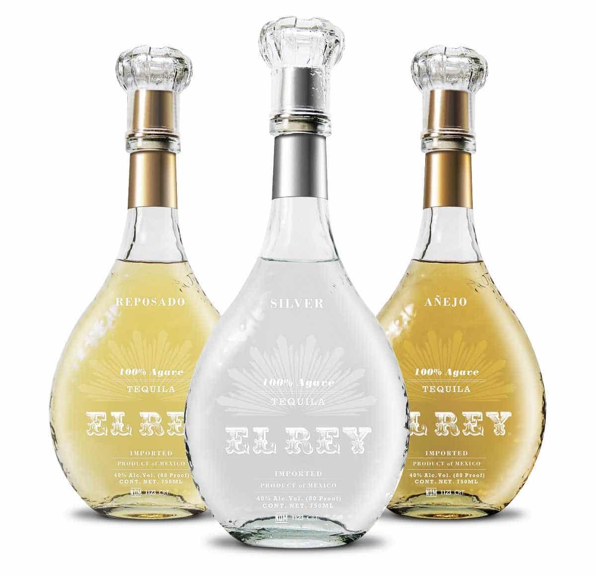 three bottles of tequila el rey tequila