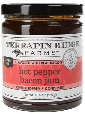 a jar of terrapin ridge hot pepper bacon jam