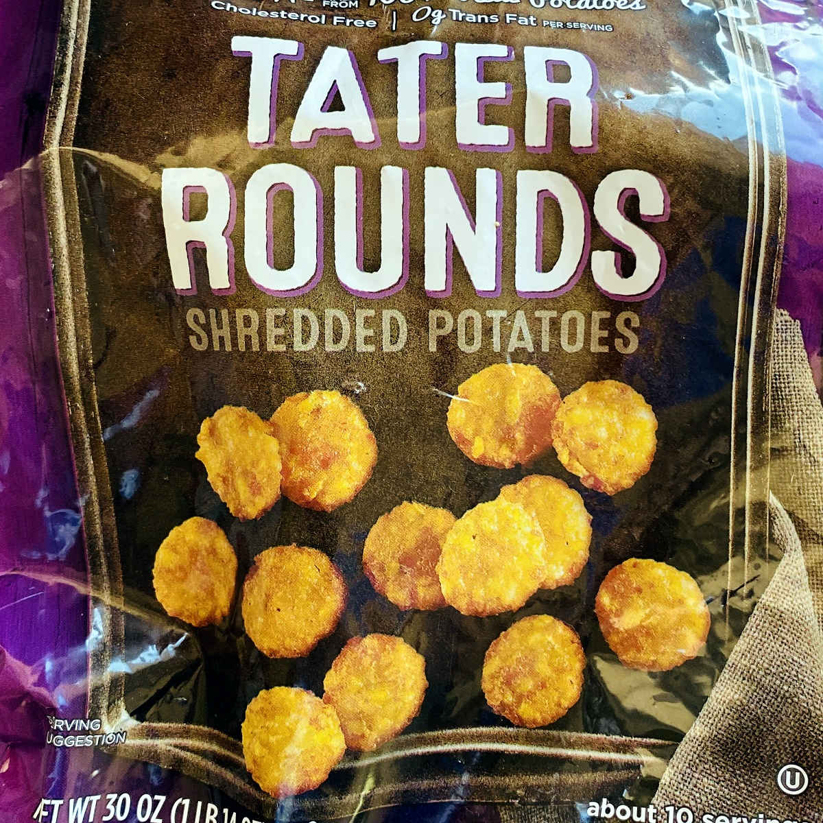 bag of tater tots or tater rounds