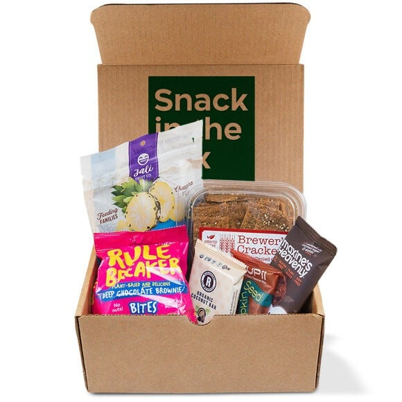 a box filled with a variety of healthy snacks