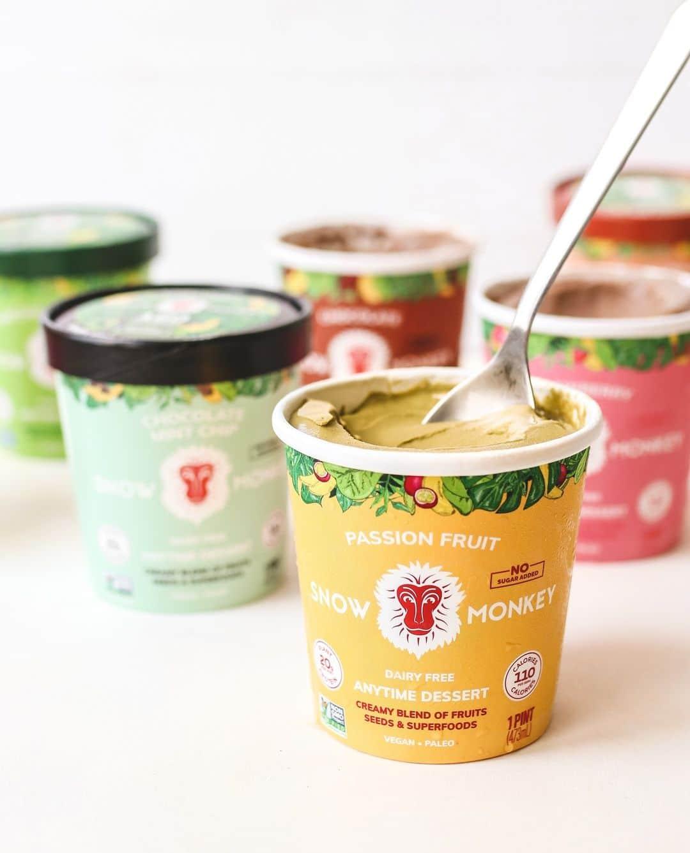 different flavors of snow monkey dessert ice cream