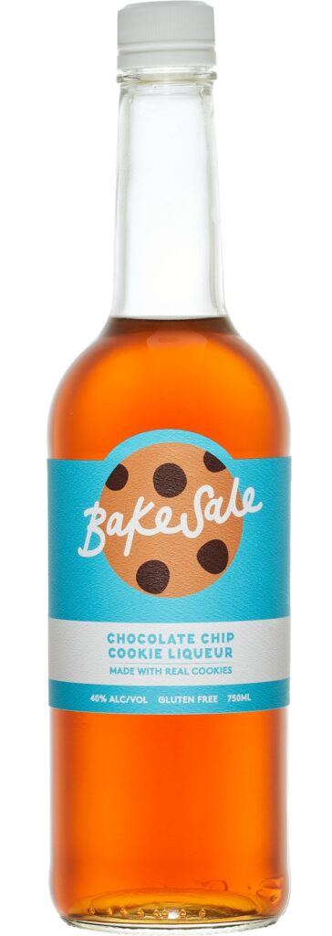 bottle of bakesale chocolate chip cookie liqueur