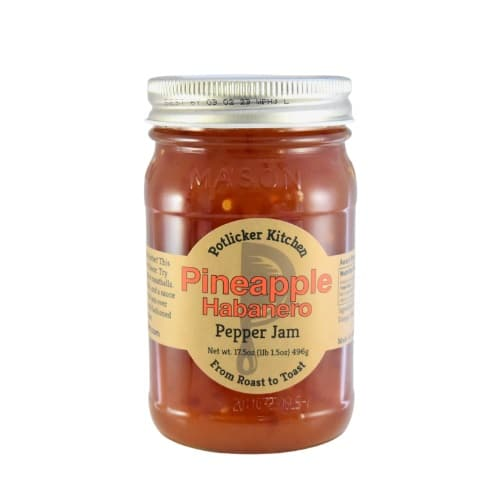 jar of potlicker pineapple habanero jam