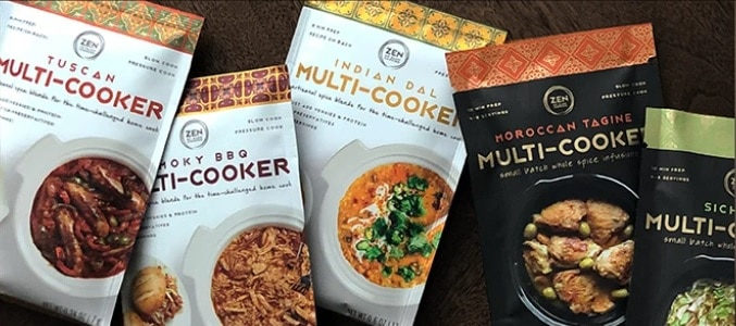 zen of slow cooking different packets of flavors in a row