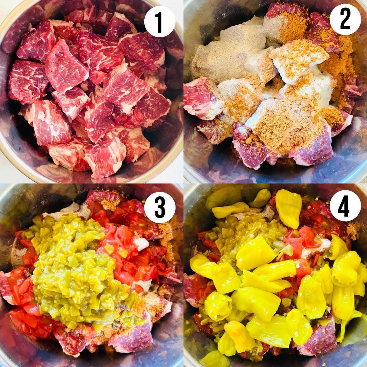process shots 1-4 to make instant pot tri tip recipe