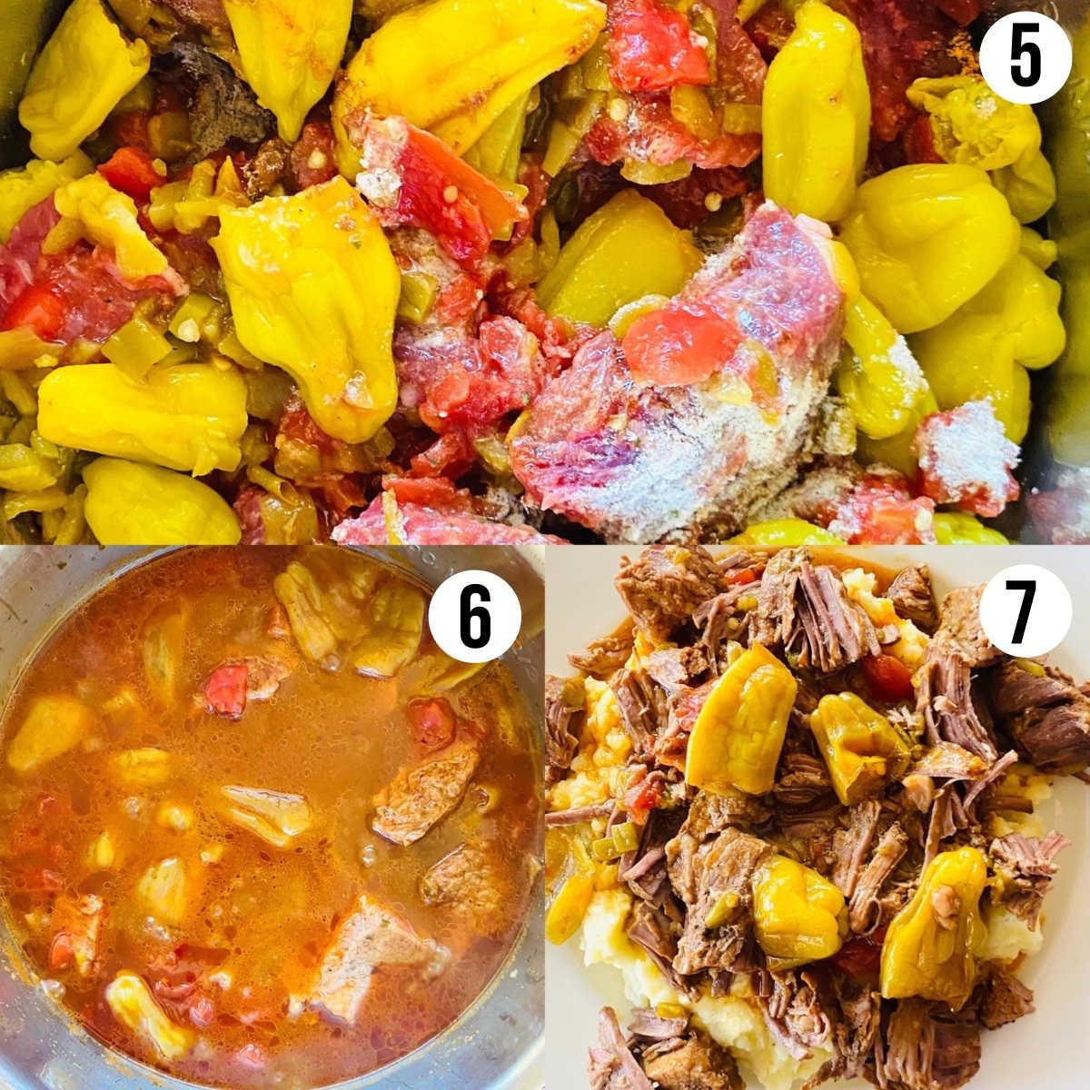 process shots 5-7 to make instant pot tri tip recipe