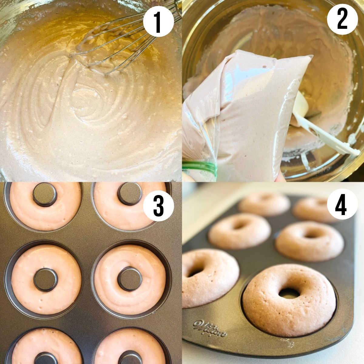 ube donuts process shots 1 - 4
