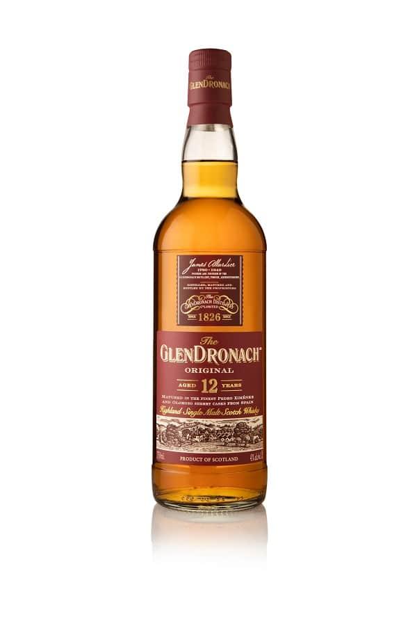 a bottle of Glendronach scotch whiskey