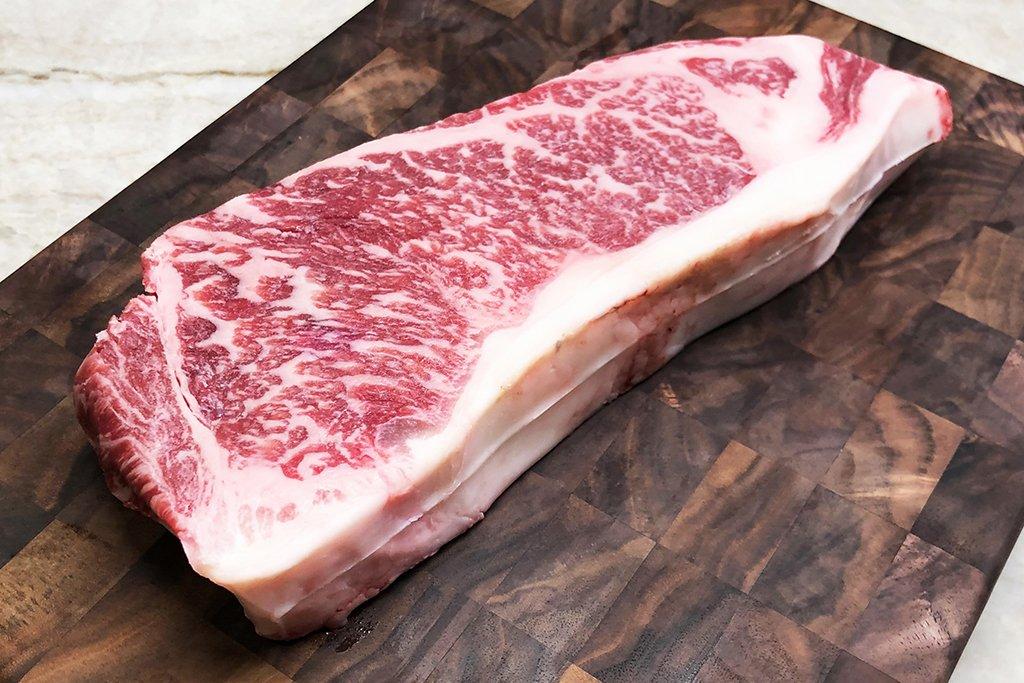 cattle 8 wagyu beef strip steak