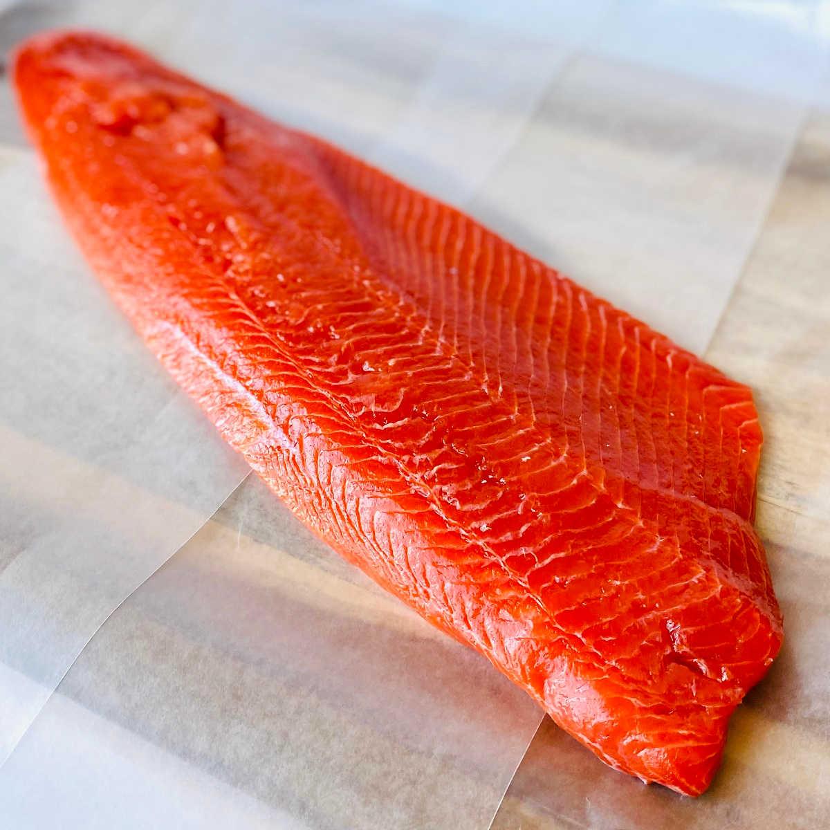 wild caught alaskan sockeye salmon filet