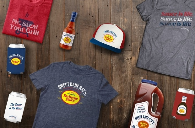 sweet baby rays sauces and branded apparel