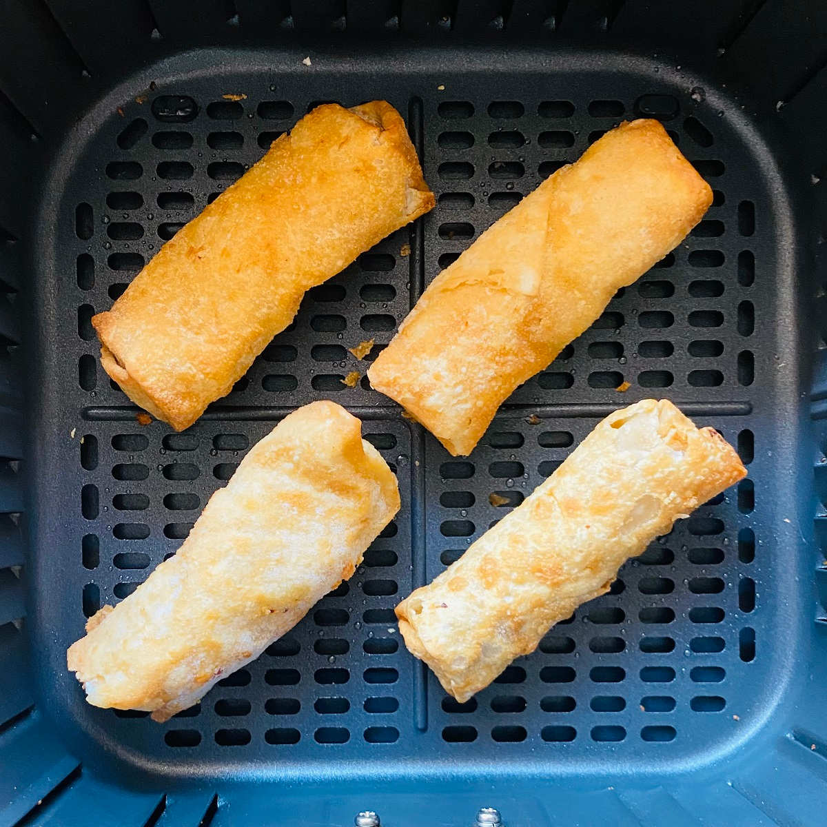 frozen egg rolls in air fryer basket